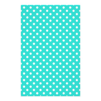 Teal Blue and White Polka Dots Pattern Flyer
