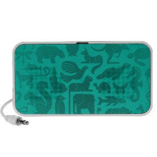 Teal Blue Animal Kingdom Pattern Speaker