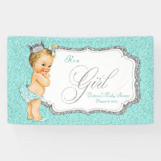 Teal Blue Baby Shower Banner