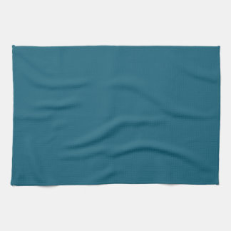 Teal Blue Background. Chic Fashion Color Trend Hand Towels