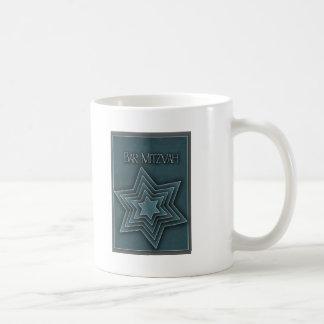 Teal Blue Bar Mitzvah Design Coffee Mug