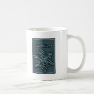 Teal Blue Bar Mitzvah Design Mug