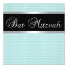 Teal Blue Bat Mitzvah Invitations