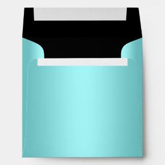 Teal Blue Black Linen Envelopes