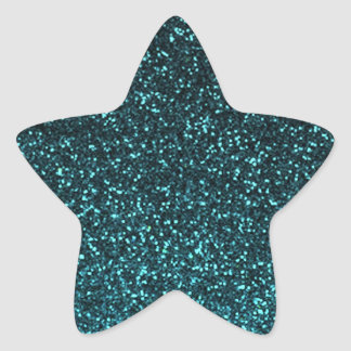 Teal blue black sparkly glitter star stickers