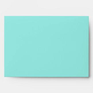 Teal Blue Black Swirl Aqua 5x7 Invitation Envelope