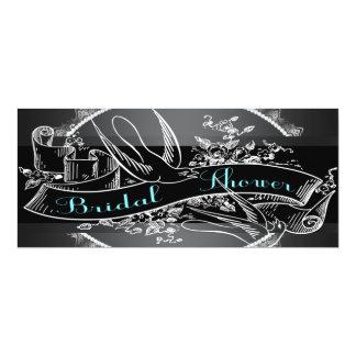 Teal Blue Chalkboard Bridal Shower Card