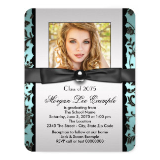 Teal Blue Class of 2015 Graduation Announcement