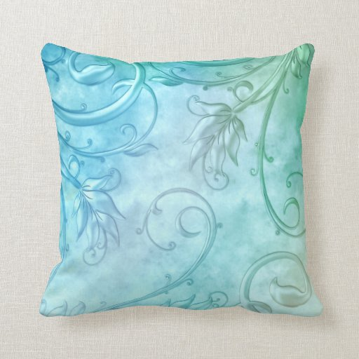 Blue Throw Pillow 20x20 : Teal Blue Damask Throw Pillow 20