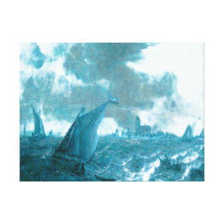 Teal Blue Day at Sea by Abraham van Beijeren Canvas Print