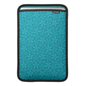 Teal blue flowers MacBook air sleeve