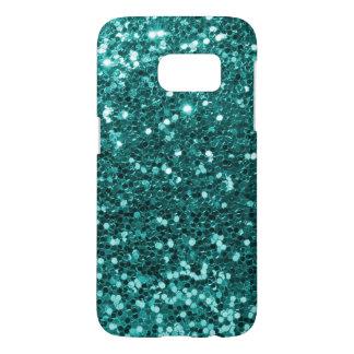 Teal Blue Glitter Samsung Galaxy S7 Case