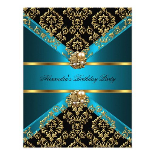 Royal Blue and Gold Birthday Party