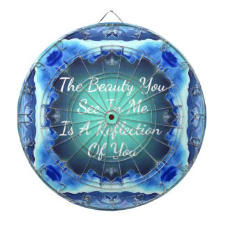 Teal Blue Green Beauty Reflection Quote Dartboard