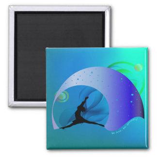 Teal Blue Green Motivational 2 Inch Square Magnet