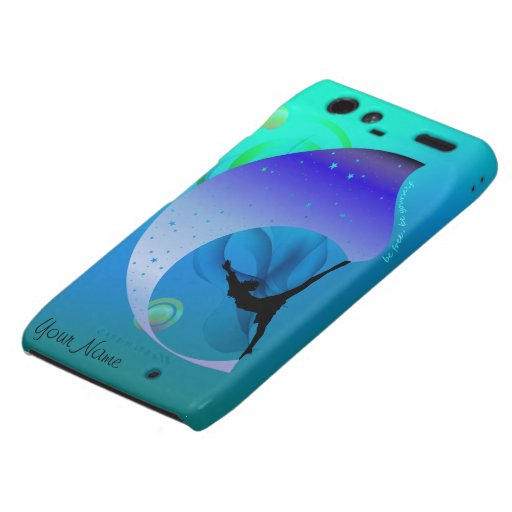 Teal Blue Green Motivational Droid RAZR Cover