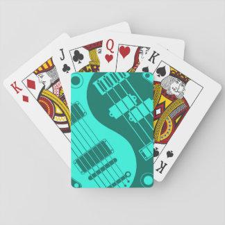 Teal Blue Guitar and Bass Yin Yang Card Decks