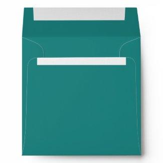 Teal Blue Jade Linen Envelopes