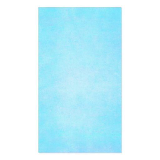 Teal Blue Light Watercolor Template Blank Double Sided Standard Business Card