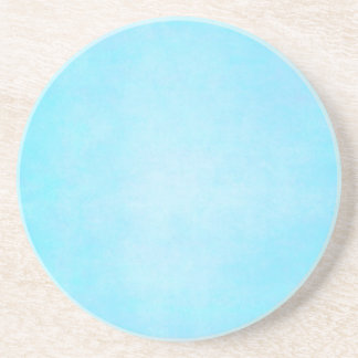 Teal Blue Light Watercolor Template Blank Drink Coaster