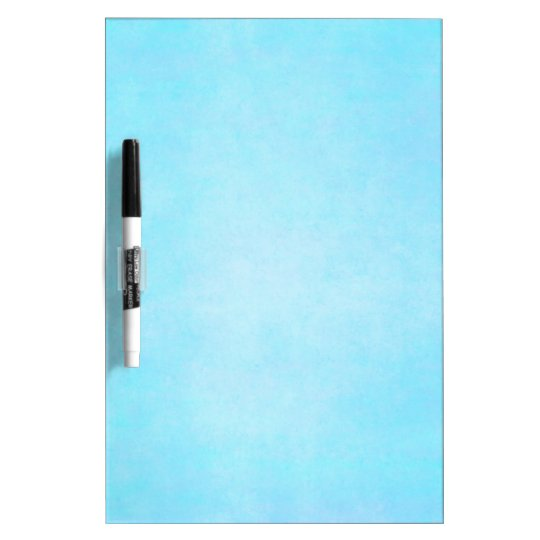 Teal Blue Light Watercolor Template Blank Dry-Erase Board