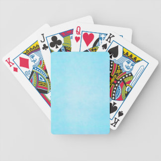 Teal Blue Light Watercolor Template Blank Bicycle Card Decks