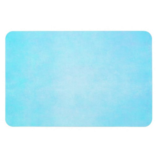 Teal Blue Light Watercolor Template Blank Rectangle Magnets