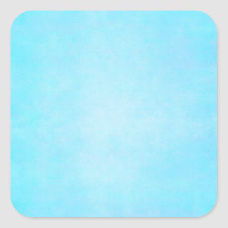 Teal Blue Light Watercolor Template Blank Square Sticker