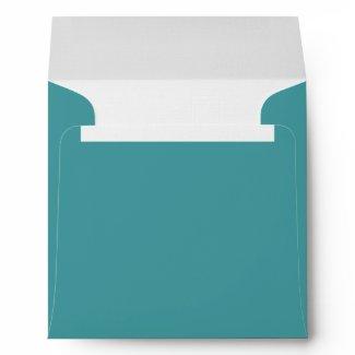 Teal Blue Linen Envelopes