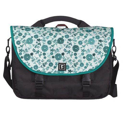 Teal Blue Mini Flower Commuter Bag