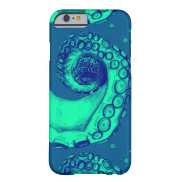 Teal & Blue Nautical Octopus Tentacle iPhone6 Case