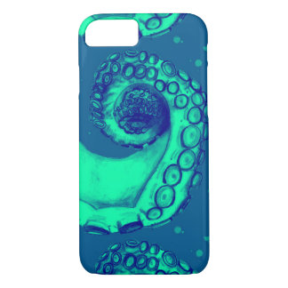 Teal & Blue Nautical Octopus Tentacle iPhone7 Case