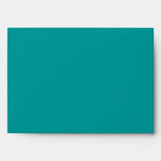 Teal Blue Peacock Wedding Invitations Envelopes