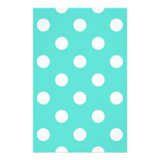 Teal Blue Polka Dot Pattern Flyer