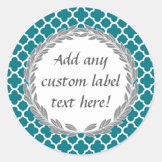 Teal Blue Pretty Custom Canning Jar Craft Label