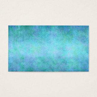 Teal Blue, Purple, Aqua, and Violet Watercolor Business Card