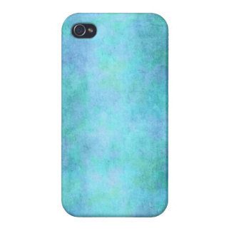 Teal Blue, Purple, Aqua, and Violet Watercolor iPhone 4/4S Cover