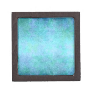Teal Blue, Purple, Aqua, and Violet Watercolor Jewelry Box