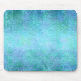 Teal Blue, Purple, Aqua, and Violet Watercolor Mouse Pad