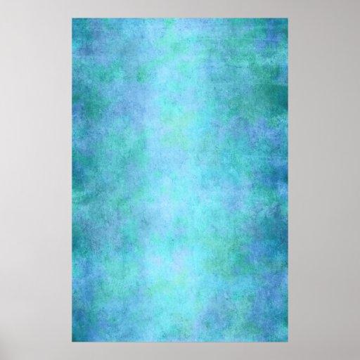 Teal Blue, Purple, Aqua, and Violet Watercolor Print