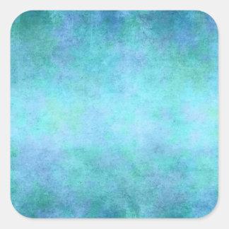 Teal Blue, Purple, Aqua, and Violet Watercolor Square Sticker