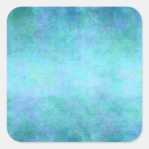 Teal Blue, Purple, Aqua, and Violet Watercolor Sticker
