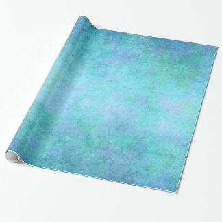 Teal Blue, Purple, Aqua, and Violet Watercolor Gift Wrap