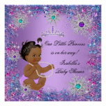 Teal Blue Purple Pink Princess Baby Shower Ethnic Poster