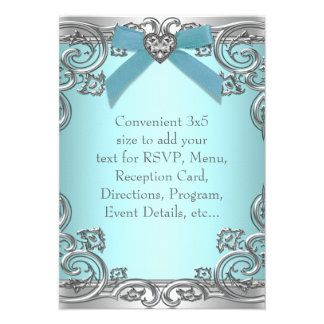 Teal Blue RSVP All Purpose Personalized Invitation
