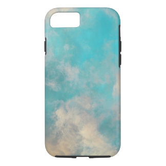 Teal Blue Sky Clouds iPhone 7 Case