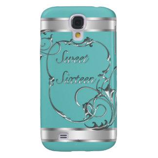 Teal Blue Sweet Sixteen i Samsung Galaxy S4 Case