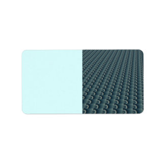Teal Blue Texturized Pattern Label