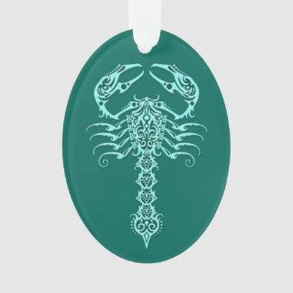 Teal Blue Tribal Scorpion