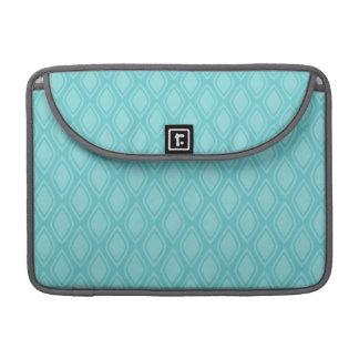 Teal Blue, Turquoise, Vintage Look Sleeve For MacBook Pro